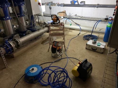 Recherche Fuite D'eau Polo Club sur 600m Diam. 160mm