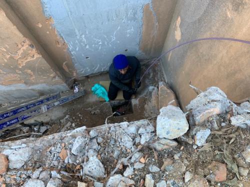 Recherche de tube pvc de 160 à 3 m sous terre Traçage Caméra Kummert Articulée